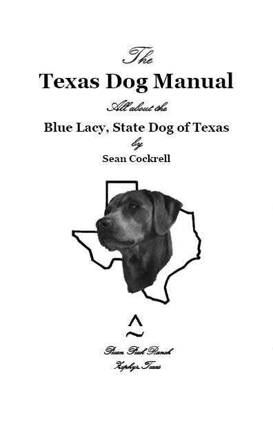 PPR's Jessie's Head Over the State of Texas Cover Page of The Texas Dog Manual